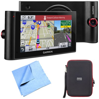 nuviCam LMTHD 6` GPS w/ Built-in Dashcam, Maps, HD Traffic Hardshell Case Bundle