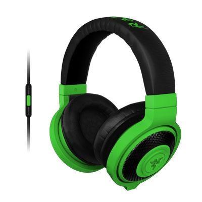 Kraken Mobile Analog Music and Gaming Headset in Neon Green - RZ04-01400100-R3U1