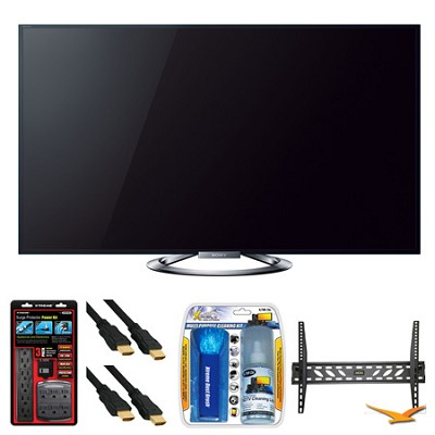 KDL-55W900A 55` LED Internet HDTV Wall Mount Bundle