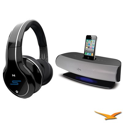 SYNC by 50 Wireless Over-Ear Black Headphones with AT&T SongStream Music Dock