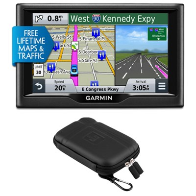 nuvi 58LMT 5` Essential Series 2015 GPS System with Maps & Traffic Case Bundle
