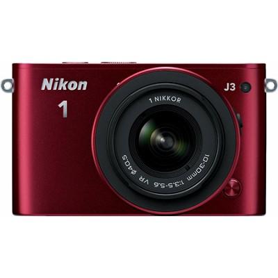 1 J3 Mirrorless 14.3MP Digital Camera w/ 10-30 VR Lens (Red) Factory Refurbished