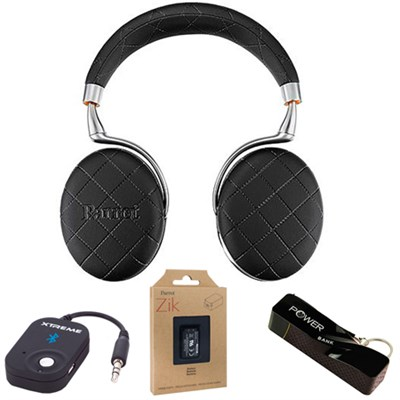 Zik 3 Wireless Noise Cancelling Bluetooth Headphones over-stiched Mobile Bundle