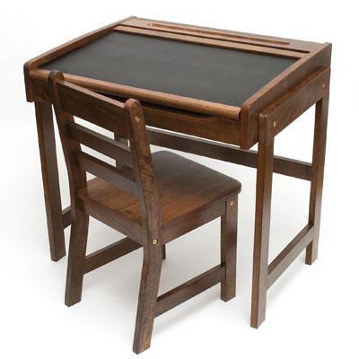 Child Chalkbd Dsk Chair Walnut