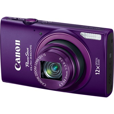 PowerShot ELPH 340 HS 16MP 12x Zoom 3-inch LCD - Purple