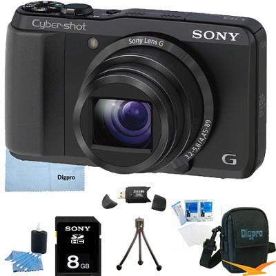 Cyber-shot DSC-HX20V 18.2 MP 20x Optical Zoom Ultrazoom Camera 8GB Bundle