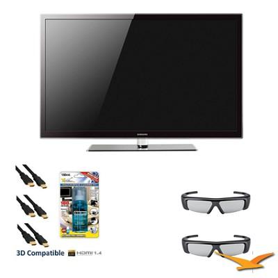 PN64D550 64 inch 1080p 3D 600hz Plasma HDTV 3D KIT