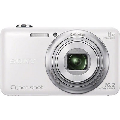 DSC-WX80 16 MP 2.7-Inch LCD Digital Camera - White