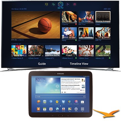 UN46F8000 - 46` 1080p 240hz 3D Smart Wifi LED HDTV 10.1-Inch Galaxy Tab 3 Bundle