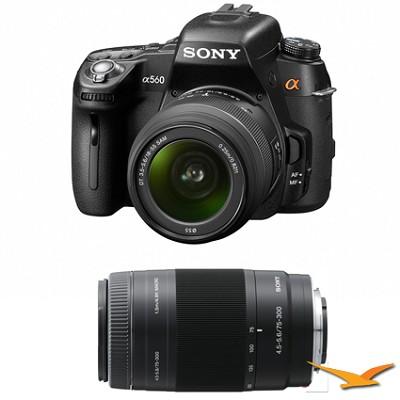 Alpha DSLR-A560 14.2 MP SLR Camera w/ 18-55mm and 75-300 Lens