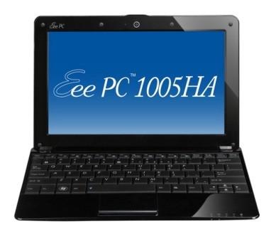 Eee PC 1005HA-V Seashell 10.1 inch Pearl Black NetBook Windows XP