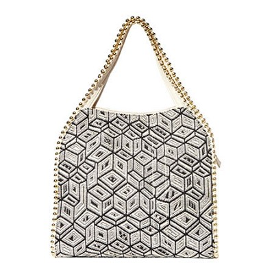 Grayson Shoulder Bag - Prism/Bone Trim