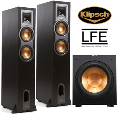 Klipsch r 26f dual 6 inch floorstanding for 12 inch floor speakers