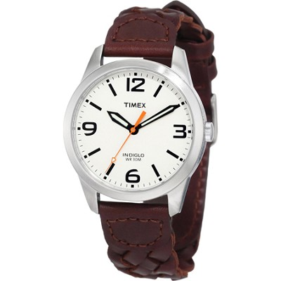Weekender Classic Casual Woven Leather Strap Watch - T2N633