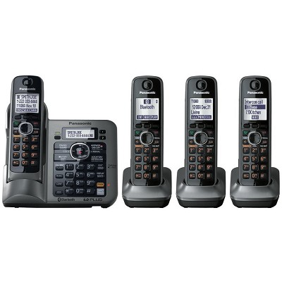 KX-TG7644M DECT 6.0 Link-to-Cell via Bluetooth Cordless Phone with Answering Sys