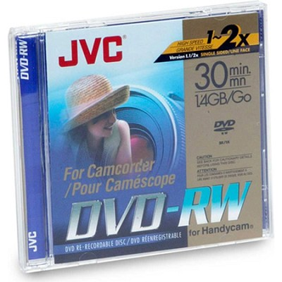Mini DVD-RW re-writable single-sided Discs (2-pack) f/ DVD Camcorders  (1.4 GB)
