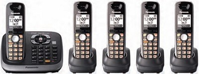 KX-TG6545B DECT 6.0 Plus Expandable Digital Cordless Answering System