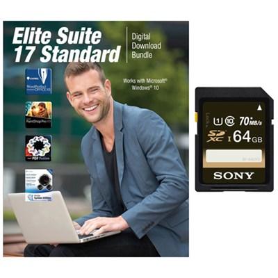 SF64UY2/TQ - 64GB SDXC Class 10 UHS-1, R70 Memory Card + Corel Suite