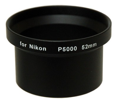 52mm Lens Barrel Adapter For Nikon Coolpix 5000 and 5100