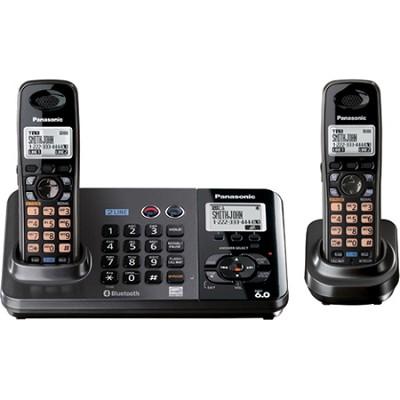 2-Line DECT 6.0 Expandable Digital Cordless Ans. System w/ 2 Handsets KX-TG9382T