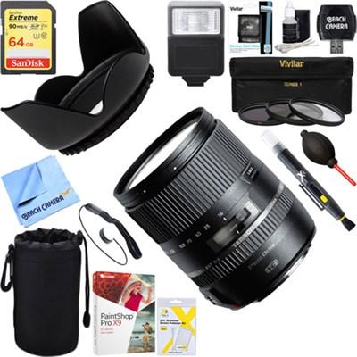 16-300mm f/3.5-6.3 Di II VC PZD MACRO Lens for Canon + 64GB Ultimate Kit