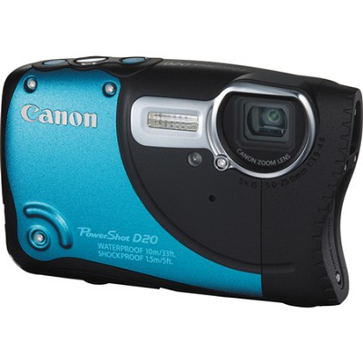 PowerShot D20 Waterproof Shockproof Blue Digital Camera