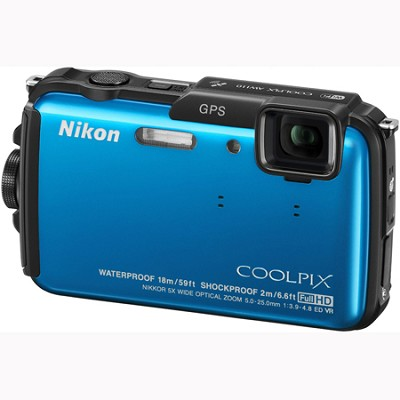 COOLPIX AW110 16MP Waterproof Shockproof Freezeproof Blue Digital Camera Refurb