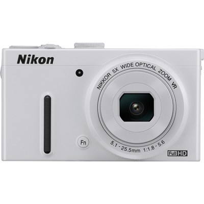 COOLPIX P330 12.2MP 3.0` LCD White Digital Camera with 1080p HD Video