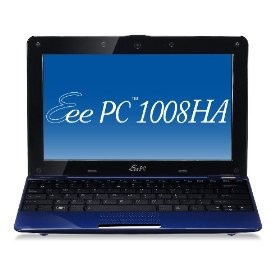 Eee 1008HA Pearl Blue Seashell 10.1 inch NetBook