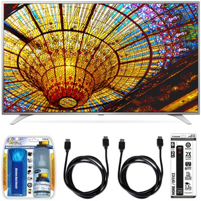 49UH6500 49` 4K Ultra HD Smart TV webOS 3.0 120hz 2160p WiFi HDMI 4pc Bundle