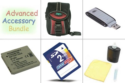 Bargain Accessory Kit for Powershot TX1 and SD750