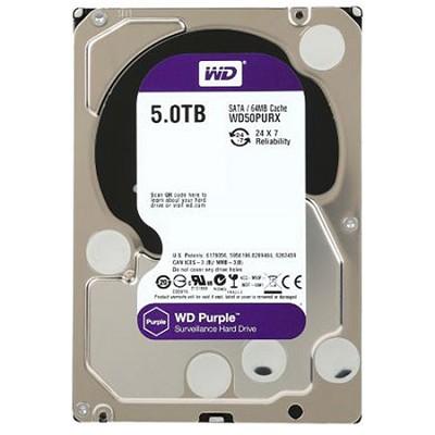 Purple WD50PURX 5TB Surveillance 3.5` Internal Hard Drive