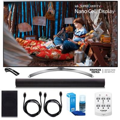 55SJ8500 55` Super UHD 4K HDR Smart LED TV w/LGSH7B 4.1ch Wi-Fi Sound Bar Bundle