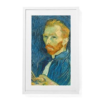 Digital Canvas Wi-Fi Enabled Wooden Frame (White) (MEU1WHT27)