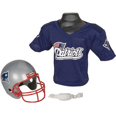 Youth NFL New England Patriots Helmet and Jersey Set - Medium - OPEN BOX