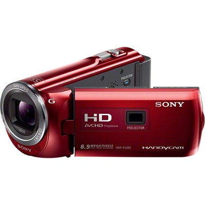 HDR-PJ380/R 16GB Full HD Camcorder with Projector (Red)