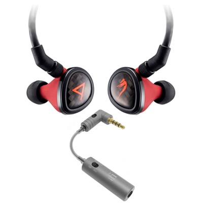 Special Edition Angie II Headphones by JH Audio - Red w/ iFi Audio iEMATCH