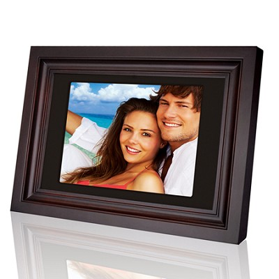 10.4` (4:3) Digital Photo Frame with 128M Flash Memory (Wooden Frame)