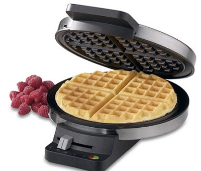 WMR-CA Round Classic Waffle Maker, Silver - Factory Refurbished