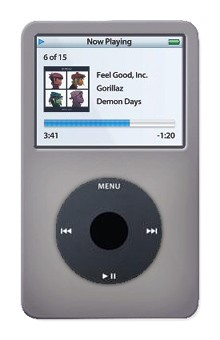 Protective silicone skin for iPod 30GB Video (Light Grey) w/ Armband
