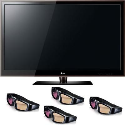 47LX6500 - 47` 1080p 240Hz HD LED plus 4  pairs of 3D Glasses
