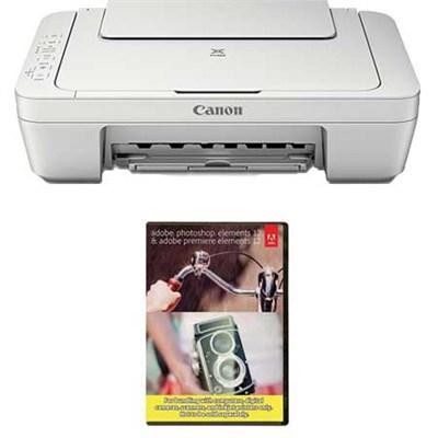 Pixma All in One (Print, Copy, Scan) Wireless Photo Printer + Adobe PEPE 12