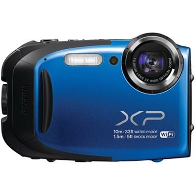 FinePix XP70 Waterproof/Shockproof Digital Camera - Blue - OPEN BOX