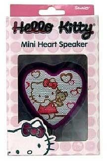 Hello Kitty MP3 Mini Heart Speaker - OPEN BOX
