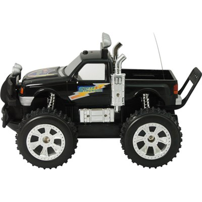Land and Sea Remote Control Truck with LED Lights (Black) - ODY-1024B - OPEN BOX