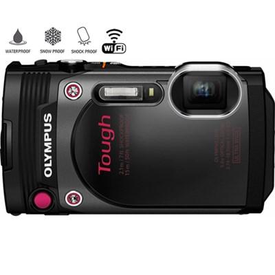Tough Waterproof 16MP Black Digital Camera w/ AF Lock-Certified Refurbished