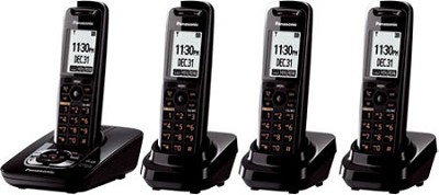 KX-TG7434B DECT 6.0 Expandable Digital Cordless Phone System