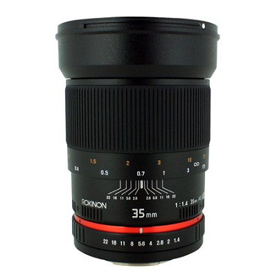 35mm F/1.4 AS UMC Wide Angle Lens for Nikon with Automatic Chip RK35MAF-N
