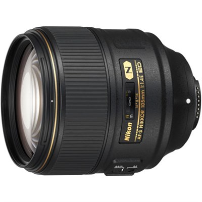 AF-S FX NIKKOR 105mm f/1.4E ED Lens - REFURBISHED