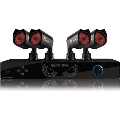 4 Channel PRO-44500-R 500GB HD DVR with 4 600 TVL Cameras - Factory Refurbished